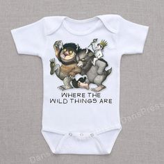 Personalized Where the Wild Things Are - Shirt Onesie Baby Bodysuit Romper Creeper on Etsy, $12.95