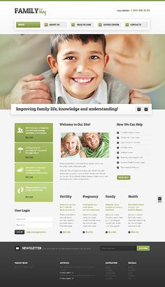 Family Blog Drupal Templates by Elza