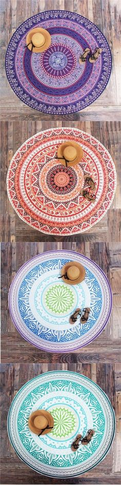 Bohemian Style Thin Chiffon Beach Yoga Towel Mandala Rectangle Bed Sheet Tapestry