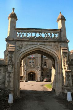 Tortworth Court, Gloucestershire, England  --My great great grandfather helped build this entryway.