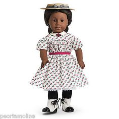 American Girl Addy's Summer Dress, Straw Hat, Berry Brooch, NEW and RETIRED! (This outfit is on the wish list)
