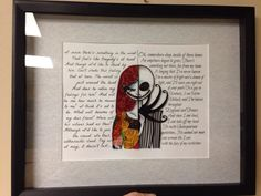 This is a Framed 11x14 Custom Framed Art Piece. For all Disney lovers this is a must have. Jack and Sally! According to Wikipedia, Quilling is the art of creating decorative designs from thin strips of curled paper. This age-old art of paper quilling has been around since Renaissance