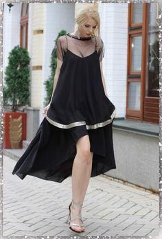 Fashion Black, High Low, Dresses, Vestidos, Dress, Gown, Outfits, Dressy Outfits