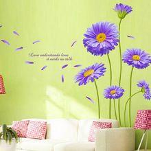 Flor adesivos de parede para sala de adesivos de parede decoração decalques auto vinil removível Wallsticker 145 * 203 cm(China (Mainland))