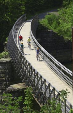 West Virginia Rails To Trails. Click for source and visit the Slow Ottawa 'Propel Yourself' board for more bike-friendly innovations.