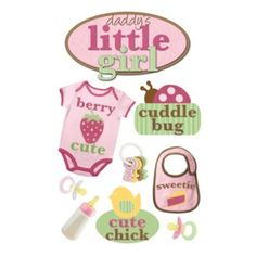 3-D Daddy's Little Girl Embellished Stickers - BedBathandBeyond.com