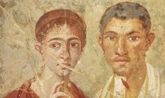 Portrait of the baker Terentius Neo and his wife, from the atrium of a house in Pompeii, 1st cent. AD.