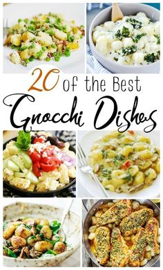 Homemade Gnocchi brings Italian Grandmas love to any kitchen! Enjoy these delightful dishes any time! Homemade Gnocchi is one of my favorite things in the world! They are quick to cook, versatile and makes a stunning dinner party dish or easy family meal. Potato Gnocchi Recipe, Sweet Potato Gnocchi, Gnocchi Recipes, Healthy Weeknight Meals, Easy Healthy Dinners, Gnocchi Dishes, Dinner Party Recipes, Dinner Ideas, Spaghetti Dinner