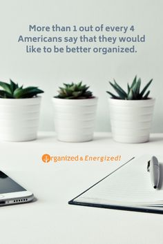 More than 1 out of every 4 Americans remarked that they would like to be better organized. #OrganizedAndEnergized #AddSpaceToYourLife