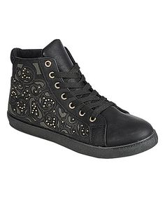 ea3bd3c3b9 Look what I found on  zulily! Black Perla Sneaker  zulilyfinds Retro Shoes