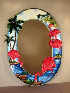 home decor store - Flamingo Mirror - Miscellaneous Items - Flamingo Decor