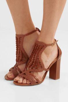 de2d8d3a23a9 Alexandre Birman - Marinah woven suede and leather sandals