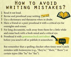 How to avoid writing mistakes