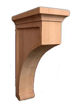 """Royal wood collection - Classic Plain Corbel / 10""""HX2-1/2""""WX7""""D - fireplace mentals, wainscoting, cornice, decorative corbels, architectural corbels   Corbel Place"""