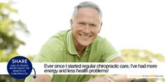 We could all use more energy and fewer health problems. Share and let people know the benefits of chiropractic!