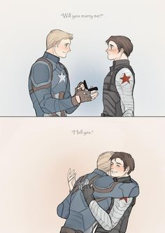 America Steve Rodgers Winter Soldier Bucky Barnes comics comic books Marvel comics Stucky give Captain America a boyfriend Marvel Comics, Marvel Jokes, Marvel Avengers, Steve Rogers Bucky Barnes, Bucky And Steve, Captain America And Bucky, Captain America Language, Winter Soldier Bucky, Star Trek