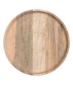 Round Wooden Tray