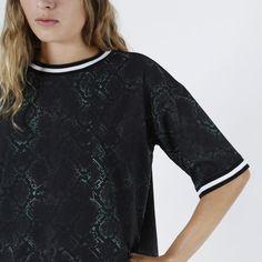 T-shirt - Kate woven Snake AOP