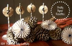 Pretty Paper Rosette Centerpiece Accessory by 504 Main @Indra Fortney Crafts