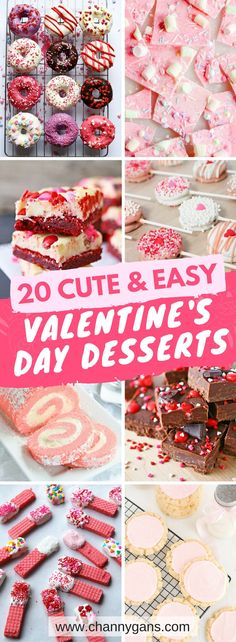 These easy Valentine's Day desserts are AWESOME! Everyone will LOVE them! I'm definitely repinning! #valentinesdesserts #valentinestreats #valentinesdaydesserts