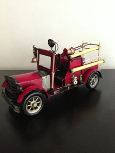 Antique fire truck for boys room