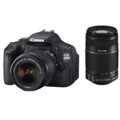 Canon EOS 600D Digital SLR Camera including 18-55 IS II + 55-250 IS II Lens Kit I WANT!!!!