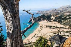 View from Tsambika monastary to the beach