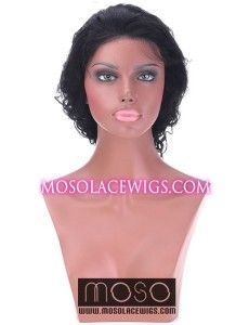 """20"""" Curly Wave #1 full lace human hair wigs, Curly Wave, Jet Black - www.mosolacewigs.com  20"""" Curly Wave #1 full lace human hair wigs, Curly Wave, Jet Black"""