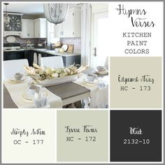 Hymns and Verses Kitchen Paint Colors
