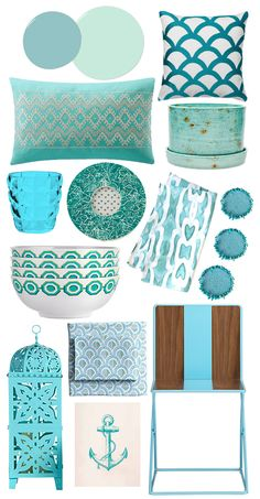 Aqua Accents by @POPSUGAR Home featuring our Celedon Scale Sheets!