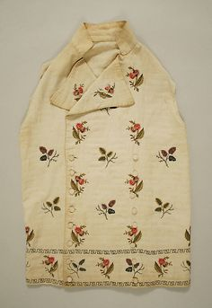 Waistcoat Date: ca. 1800 Culture: French Medium: linen