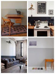 Voor een hedendaagse hal is een combinatie van grijzen een optie kleurgebruik in deze hal - Deco woonkamer aan de muur wit ...
