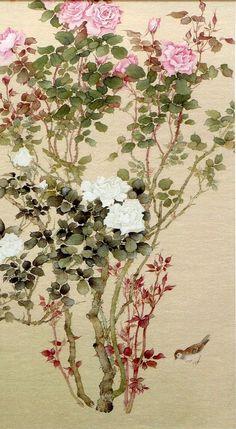 MATSUBAYASHI Keigetsu(松林桂月 Japanese, 1876-1963)MATSUBAYASHI Settei(松林雪貞 Japanese, 1880-19?Keigetsu's wife)