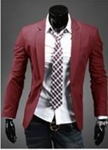 New Men's One Button Suit Jacket - 8 Different Colors