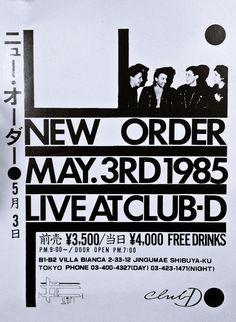 NEW ORDER JAPANESE GIG POSTER 1985