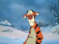 The Many Great Moments From The Many Adventures of Winnie the Pooh | Tigger's face when he thinks he can't ever bounce again.