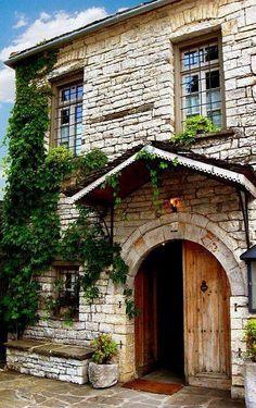 Traditional house, Papigo village, Greece
