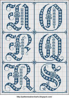Free Easy Cross, Pattern Maker, PCStitch Charts + Free Historic Old Pattern Books: Sajou No 325