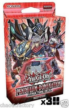 Yu-Gi-Oh Sealed Decks and Kits 183452: Yugioh Tcg Pendulum Domination Structure Deck X 3 Factory Sealed! In Stock!! -> BUY IT NOW ONLY: $60 on eBay!