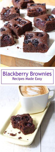 Blackberry brownies