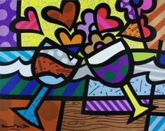 See related links to what you are looking for. Painted Wooden Boxes, Painted Paper, Arte Pop, Colorful Paintings, Beautiful Paintings, Acrylic Paintings, Oil Paintings, Graffiti Painting, Wine Art