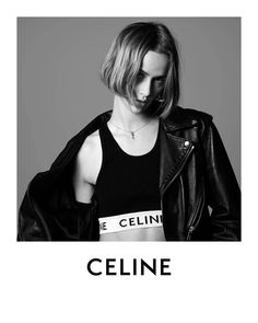 CELINE LES GRANDS CLASSIQUES AD CAMPAIGN #Celine #ss21 Celine, Oversized Plaid Shirts, Bob Hairstyles, Advertising Campaign, Editorial Fashion, Cool Girl, Fashion Show, Leather Jacket, Crop Tops