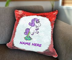 Unicorn fart rainbow Personalized Sequin Cushion cover with your name unicorn sequin pillow personalised cushion cover magic sequin cover by funkytshirtsfactory on Etsy Sequin Pillow, Unicorn Cushion, Personalised Cushions, Christmas Stocking Fillers, Baby Shirts, Cool Socks, Father And Son, Cushion Covers