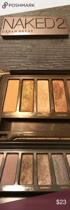 Urban Decay Naked 2 Eye Shadow Palette Used Eye Shadow Palette. I dropped the Palette once and Busted and Blackout came out 😔. Palette does not come with the make up brush. No trades. Urban Decay Makeup Eyeshadow