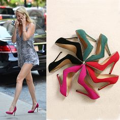 2016 summer women pointed high-heeled suede shoes sexy girls