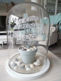 Trendy home decoratie stolp ideas Summer Decoration, Bday Gifts For Him, Creation Deco, The Bell Jar, Seashell Crafts, Trendy Home, Craft Sale, Beach House Decor, Diy Birthday