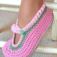 Instant Download Crochet Pattern Mary Janes for by Genevive