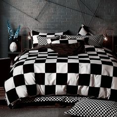 Black White Bedding sets King Duvet Quilt cover set Linens Russia USA Size,Bedroom Bedding,Contains quilt Cover pillowcase