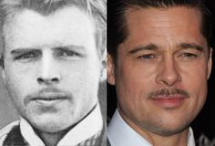 Hermann Rorschach looks like Brad Pitt ( Swiss Freudian psychiatrist and psychoanalyst, best known for developing a projective test known as the Rorschach inkblot test)