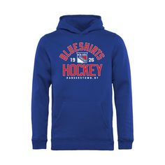 New York Rangers Youth Hometown Collection Blue Shirts Hockey Pullover Hoodie - Blue - $39.99